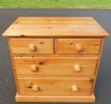 Small Victorian Style Pine Chest of Drawers